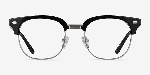 Komorebi Black Silver Acetate Eyeglass Frames