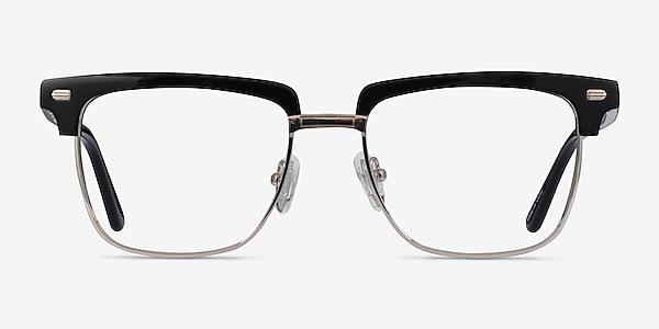 Murakami Black Silver Acetate Eyeglass Frames