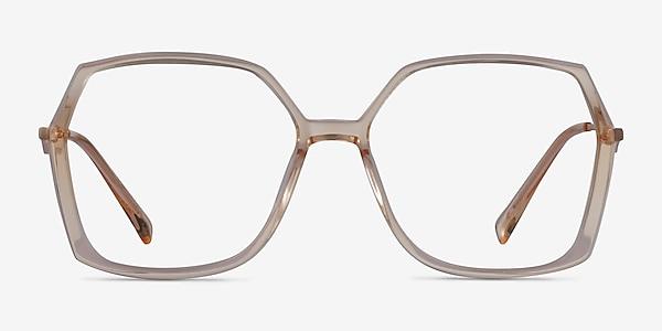 Ellipse Clear Yellow Acetate Eyeglass Frames