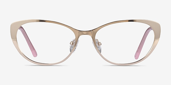 Thames Gold Acetate Eyeglass Frames
