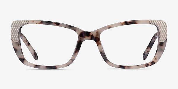 Gilded Ivory Tortoise Silver Acetate Eyeglass Frames