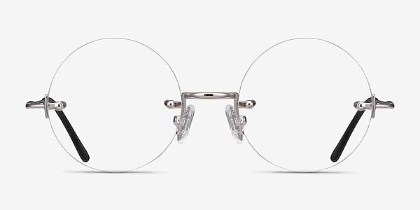Palo Alto Silver Metal Eyeglass Frames