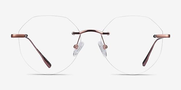 Sahar Rose Gold Metal Eyeglass Frames