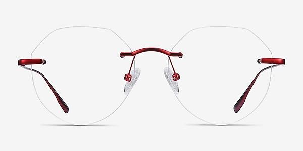 Sahar Rouge Métal Montures de lunettes de vue