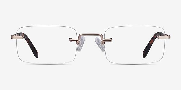 Simplicity Gold Metal Eyeglass Frames