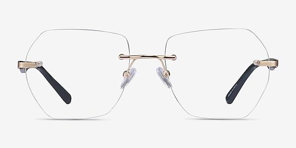 Finsbury Light Gold Acetate Eyeglass Frames