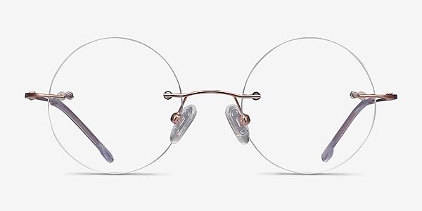 Altus Rose Gold Metal Eyeglass Frames