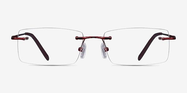 Earl Burgundy Metal Eyeglass Frames