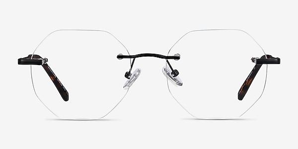 Generous Matte Black Metal Eyeglass Frames