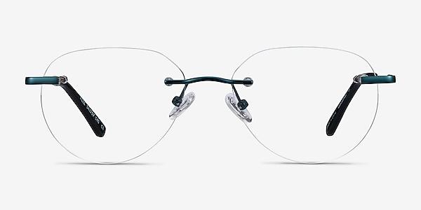 Feel Navy Metal Eyeglass Frames