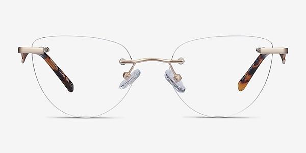 Harmony Matte Gold Metal Eyeglass Frames