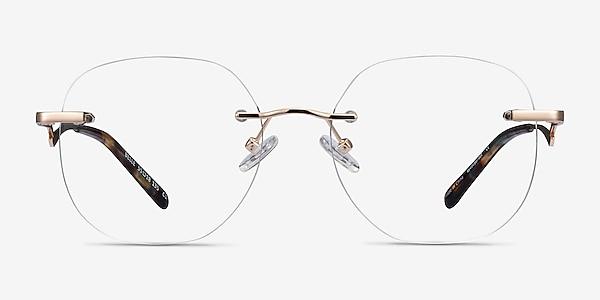 Belle Gold Metal Eyeglass Frames