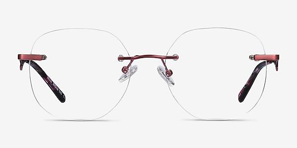 Belle Burgundy Metal Eyeglass Frames