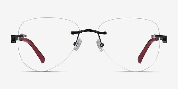 Ride Black Burgundy Metal Eyeglass Frames
