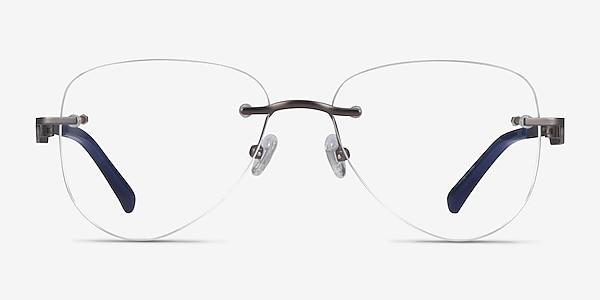 Ride Gunmetal Blue Métal Montures de lunettes de vue