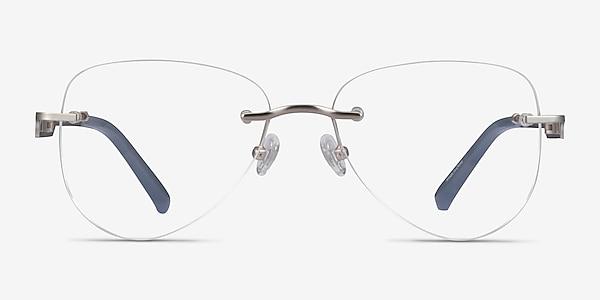 Ride Silver Light Gray Métal Montures de lunettes de vue