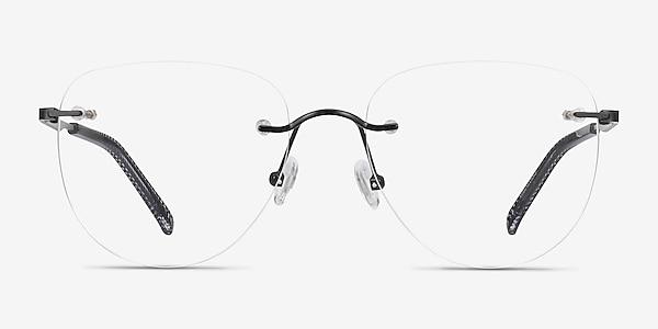 Ritzy Black Metal Eyeglass Frames
