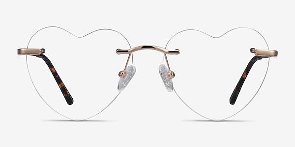 Amore Rose Gold Métal Montures de lunettes de vue