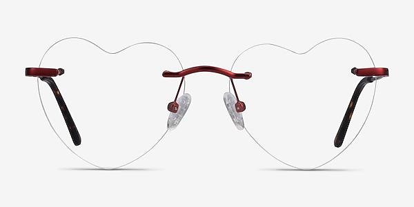 Amore Red Metal Eyeglass Frames