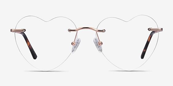 Bae Rose Gold Métal Montures de lunettes de vue