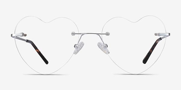 Love Silver Metal Eyeglass Frames