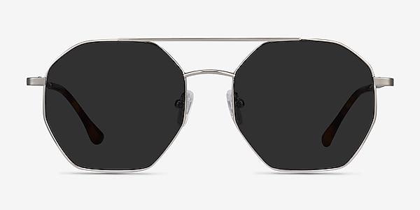 Sun Eight Silver Metal Sunglass Frames