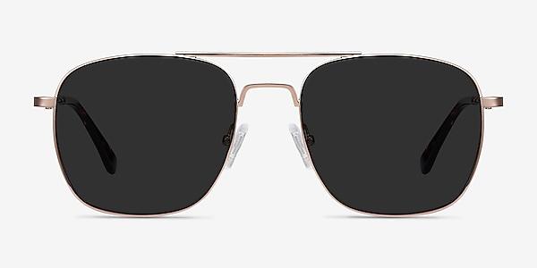 Sun Fame Rose Gold Metal Sunglass Frames