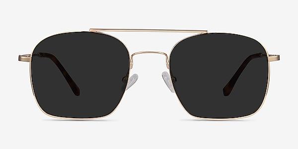 Itza Golden Metal Sunglass Frames