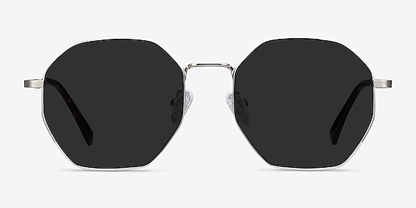 Sun Octave Silver Metal Sunglass Frames