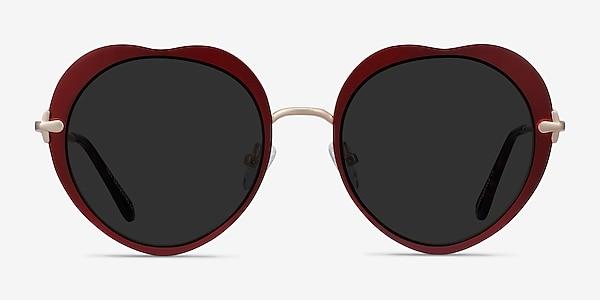 Luv Burgundy Metal Sunglass Frames