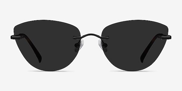 Linger Black Metal Sunglass Frames