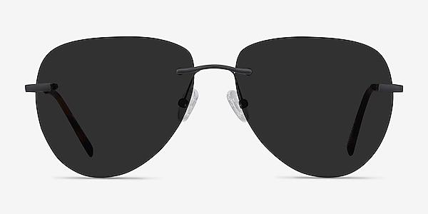 Martin Matte Black Metal Sunglass Frames