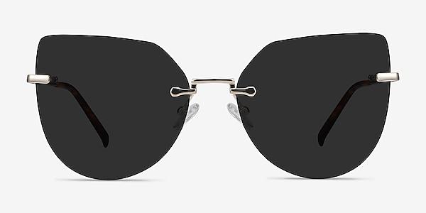 Toyah Light Gold Metal Sunglass Frames