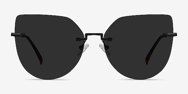 Toyah Black Metal Sunglass Frames