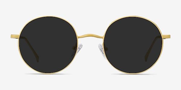 Sun Synapse Yellow Metal Sunglass Frames