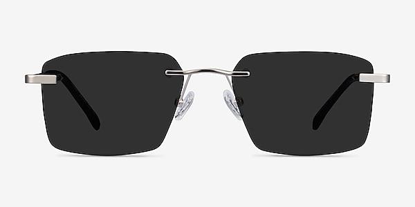 Invent Matte Silver Metal Sunglass Frames