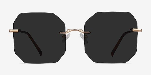 Elmira Gold Metal Sunglass Frames