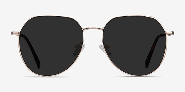 Carlsbad Gold Metal Sunglass Frames