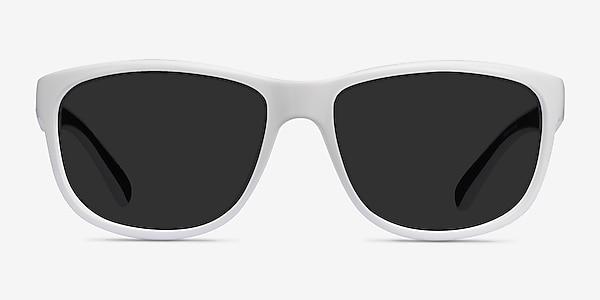 Determined White Plastic Sunglass Frames