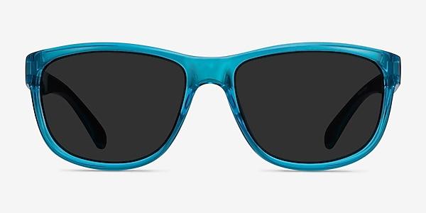 Determined Blue Plastic Sunglass Frames