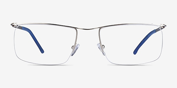Point Silver  Metal Eyeglass Frames