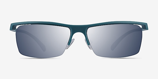 Turnover Matte Teal Plastic Sunglass Frames