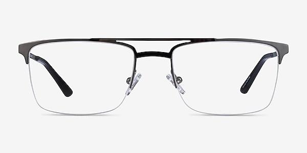Huddle Gunmetal Metal Eyeglass Frames