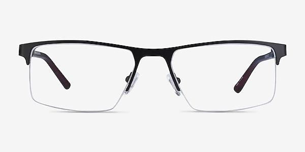 Interception Black  Red Metal Eyeglass Frames
