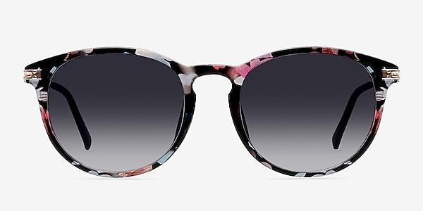Monroe Pink/Floral Plastic-metal Sunglass Frames