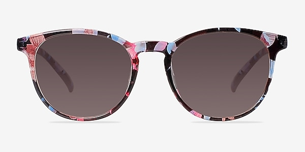 Deja Vu Blue/Floral Plastic Sunglass Frames