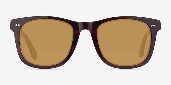 Nevada Brown Striped Acetate Sunglass Frames