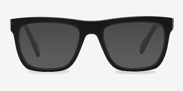 Virtual Matte Black Acetate Sunglass Frames