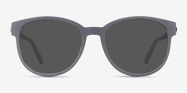 Terracotta Matte Gray Plastic-metal Sunglass Frames