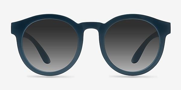 Oasis Matte Blue Plastic Sunglass Frames